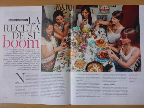 Aparicion revista Ya sobre el boom de los bloggeros gastronomicos en Chile